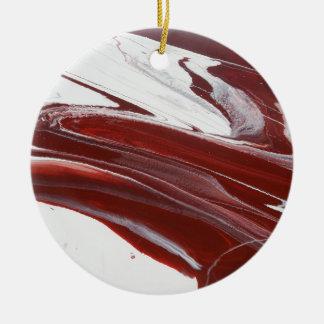 Ruby Pillars Ceramic Ornament