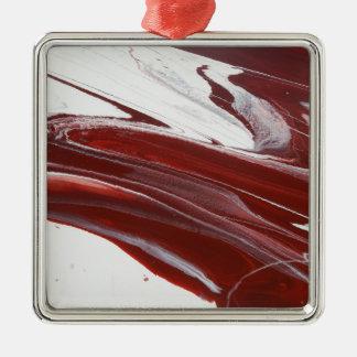 Ruby Pillars Metal Ornament