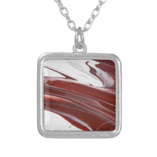 Ruby Pillars Silver Plated Necklace