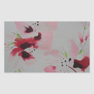 Ruby, pink and lime abstract flower spray sticker