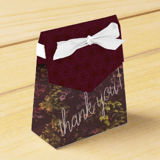 Ruby Plant Wall Thank You Gift Bag Favor Box