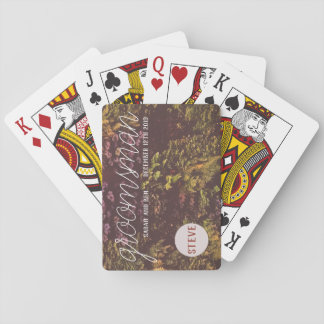 Ruby Plant Wall Wedding Playing Cards
