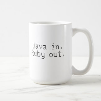 Ruby programmer's coffee mug