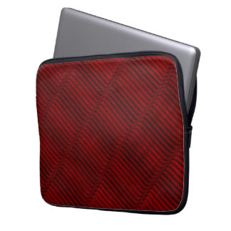 Ruby Red and Black Pattern Laptop Sleeves