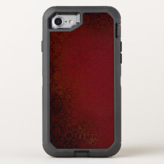 Ruby Red Damask OtterBox Defender iPhone 7 Case