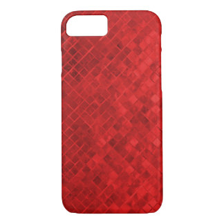 ruby red diamond metallic tile iPhone 8/7 case