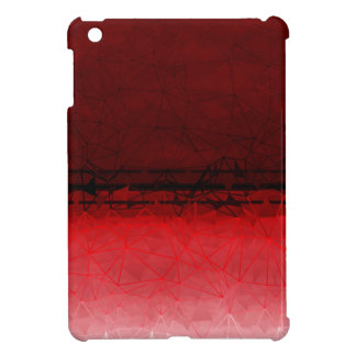 Ruby Red Geometrical Ombre Pattern iPad Mini Covers