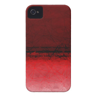 Ruby Red Geometrical Ombre Pattern iPhone 4 Case-Mate Case