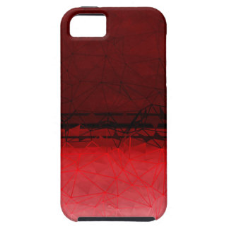 Ruby Red Geometrical Ombre Pattern iPhone 5 Cover