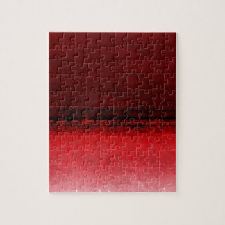 Ruby Red Geometrical Ombre Pattern Jigsaw Puzzle