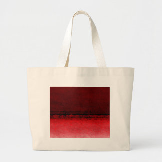 Ruby Red Geometrical Ombre Pattern Large Tote Bag