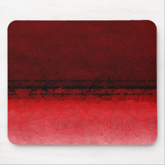 Ruby Red Geometrical Ombre Pattern Mouse Pad