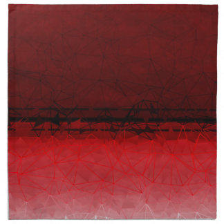 Ruby Red Geometrical Ombre Pattern Napkin