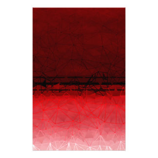 Ruby Red Geometrical Ombre Pattern Stationery