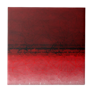 Ruby Red Geometrical Ombre Pattern Tile