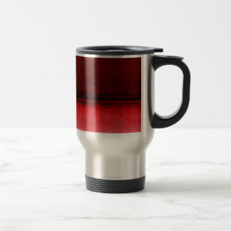 Ruby Red Geometrical Ombre Pattern Travel Mug