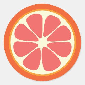Ruby Red Grapefruit Juicy Sweet Citrus Fruit Slice Classic Round Sticker