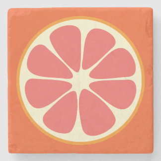 Ruby Red Grapefruit Juicy Sweet Citrus Fruit Slice Stone Coaster
