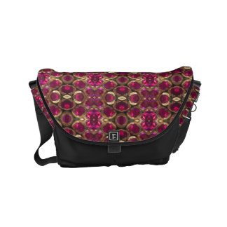 Ruby Red Pink Gold Gemstone Pattern Elegant Chic Courier Bag