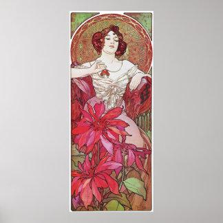 Ruby Red Rose Goddess Poster