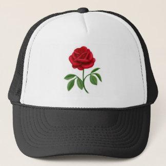 Ruby Red Rose Trucker Hat