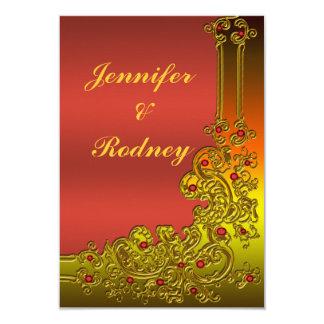 Ruby Red RSVP Wedding Invitation