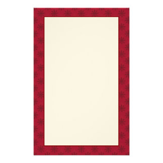 Ruby Red Snowflake Pattern Stationery