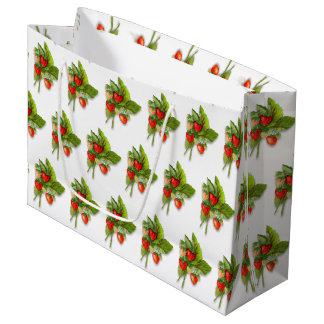 Ruby Red Strawberries Large Gift Bag