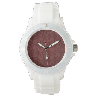 Ruby Red Victorian Delight Damask Watches