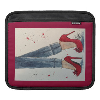 Ruby Reds & Denim iPad Sleeve