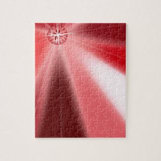 Ruby Starburst Jigsaw Puzzle