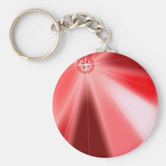 Ruby Starburst Keychain