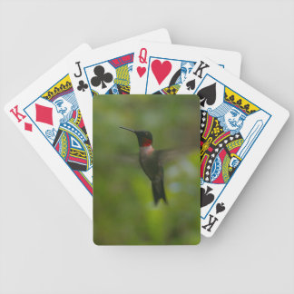 Ruby Throat Hummingbird Bicycle Playing Cards