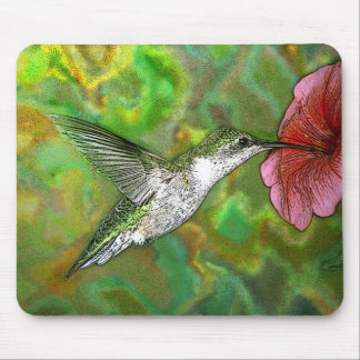 Ruby-throated-Hummingbird-4219-2 Mouse Pad