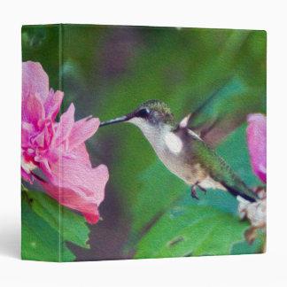 Ruby Throated Hummingbird Avery Signature Binder