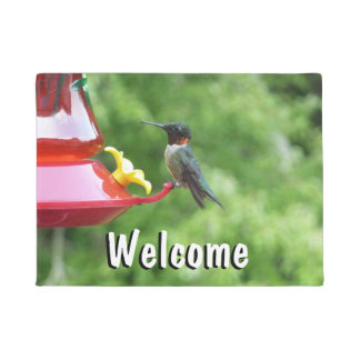 Ruby-Throated Hummingbird Bird Photography Doormat
