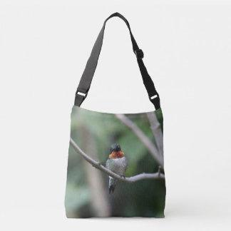 Ruby-throated Hummingbird Crossbody Bag