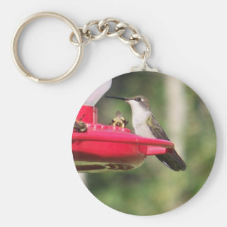 Ruby Throated Hummingbird Keychain