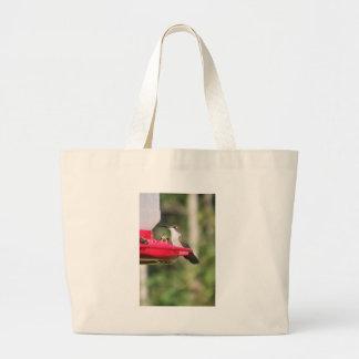 Ruby Throated Hummingbird Large Tote Bag