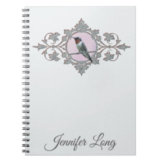 Ruby Throated Hummingbird Photo Notebook