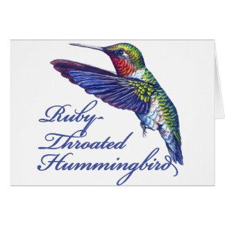 Ruby Throated Hummingbird Scripted Card