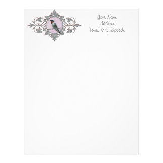 Ruby Throated Hummingbird, Sitting on a Wire Letterhead