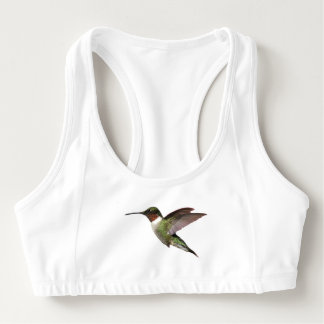 Ruby Throated Hummingbird Sports Bra
