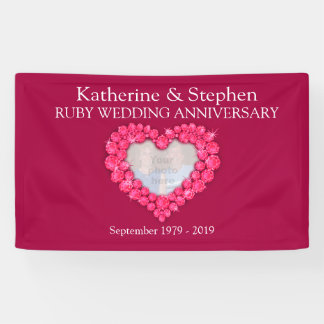 Ruby Wedding anniversary red banner