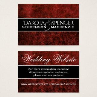 Ruby Wedding Crimson Garnet Blood Red Party Theme Business Card