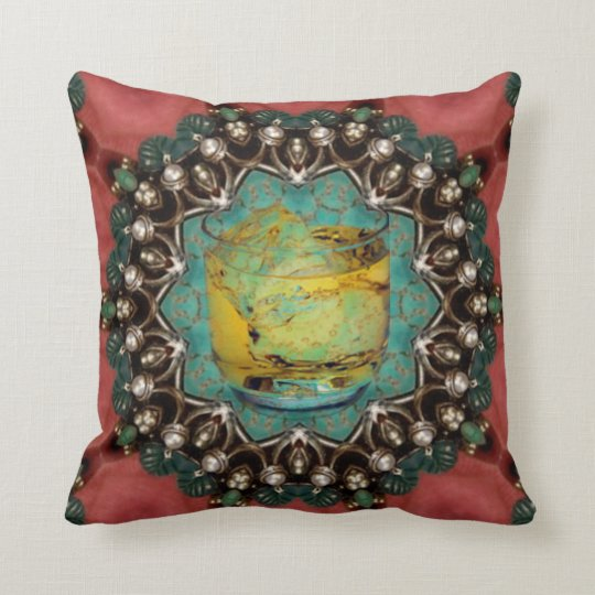 Ruby's Saloon. Throw Pillow