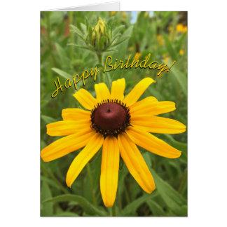 Rudbeckia Blossom and Bud Close-Up Photograph Card