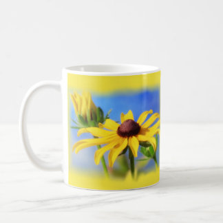 Rudbeckia Blue and Golden - Vignette Coffee Mug