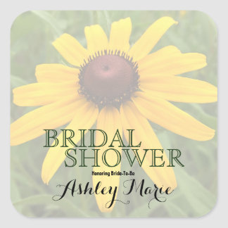Rudbeckia Flower Photo In Diminished Opacity Square Sticker