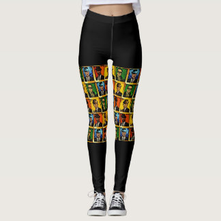 Rude Boy USA Abstract Leggings (Front Only)